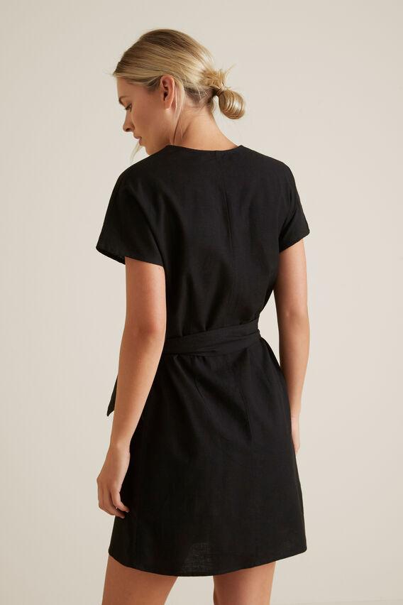 Wrap Around Mini Dress  BLACK  hi-res