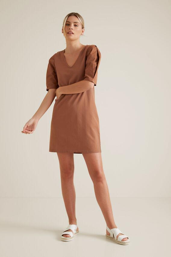 Mini Puff Sleeve Dress  RED DESERT  hi-res
