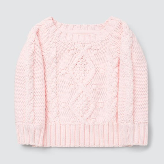 Cable Sweater  ICE PINK  hi-res