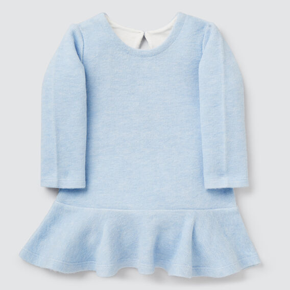 Double Knit Dress  SOFT BLUE MARLE  hi-res