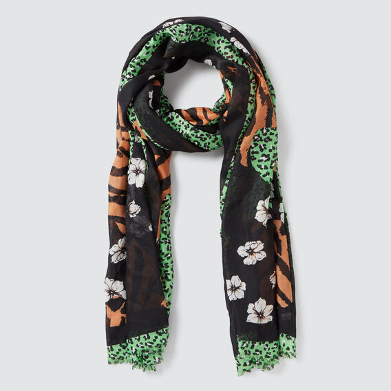 Mixed Animal Scarf  MULTI  hi-res