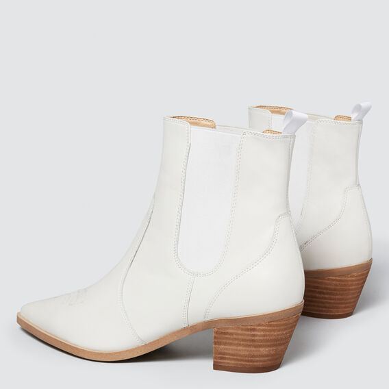 Ginny Pointed Boot  WHITE  hi-res