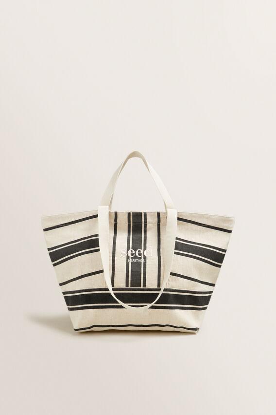 Seed Overnight Bag  CREAM/BLACK STRIPE  hi-res