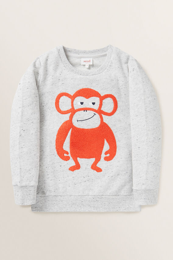 Monkey Chenille Windcheater  CLOUDY MARLE  hi-res