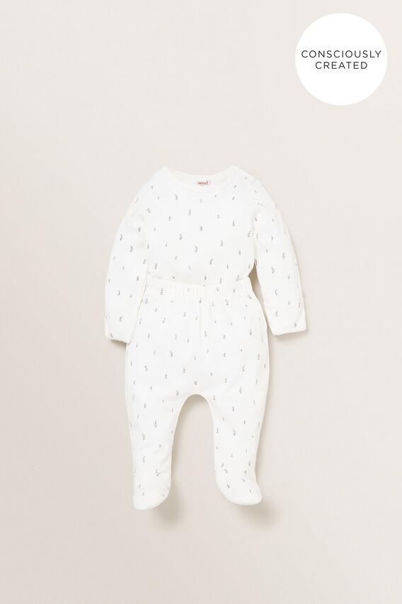 Organic Mitten Bodysuit  CANVAS  hi-res