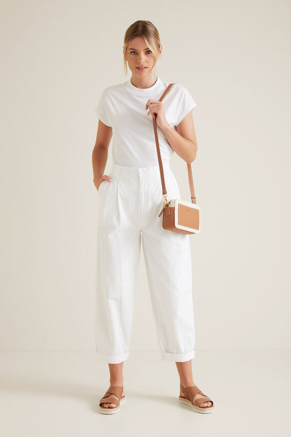 Tapered Casual Pant  WHISPER WHITE  hi-res