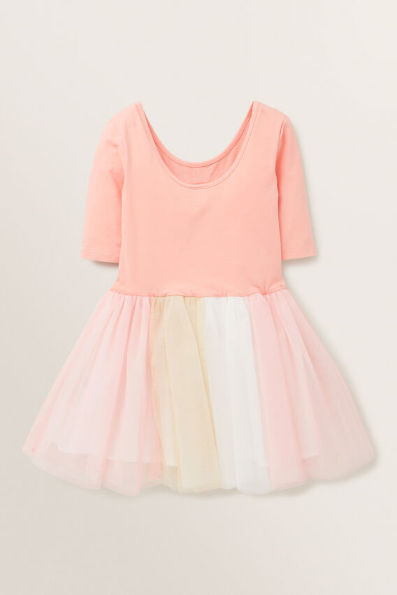 Rainbow Tutu Dress  PEACH  hi-res