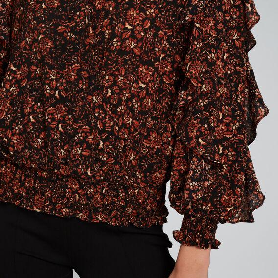 Textured Wrap Top  FLORAL  hi-res