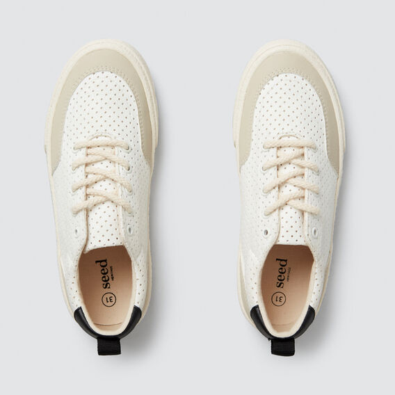 Smart Lace-Up Trainer  WHITE  hi-res