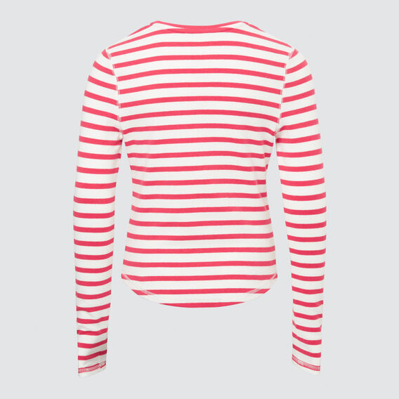 Striped Tee  CHERI RED  hi-res