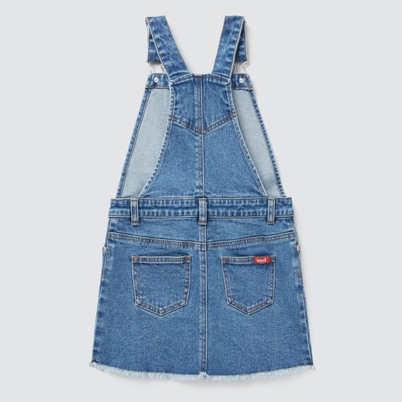 Button Denim Pinafore  VINTAGE BLUE WASH  hi-res