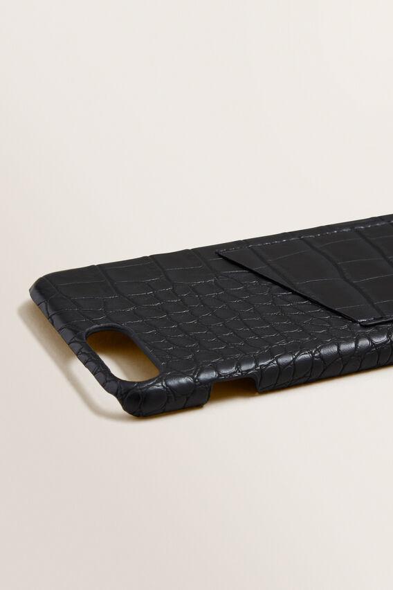Pocket Phone Case 6+/7+/8+  BLACK CROC  hi-res
