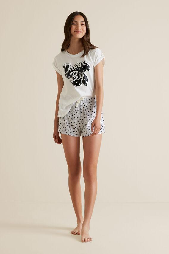 Dream Big Short Sleeve Pyjama  CLOUD  hi-res