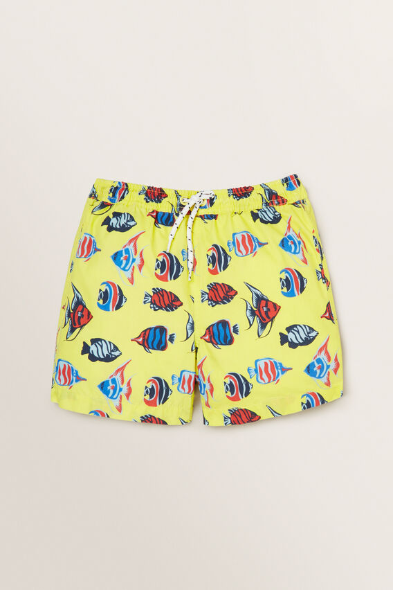 Boys Mini-Me Fish Boardshort  STARFISH  hi-res