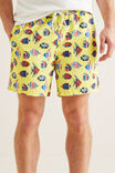 Mens Mini Me Fish Boardshort, STARFISH, hi-res