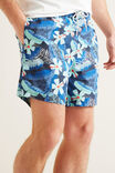 Mens Mini Me Tropical Boardshort, MIDNIGHT BLUE, hi-res