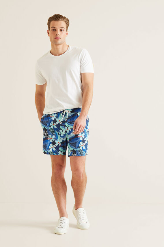 Mens Mini Me Tropical Boardshort  MIDNIGHT BLUE  hi-res