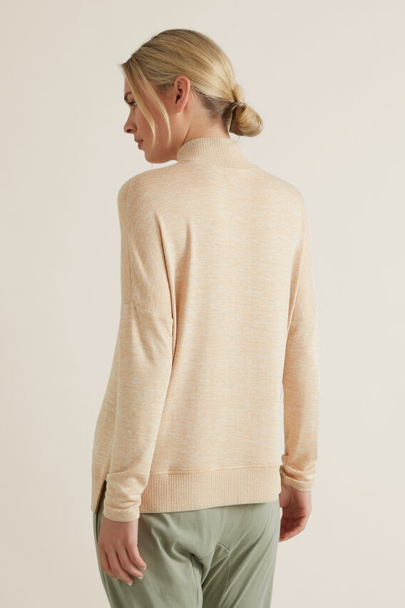 High Neck Sweater  ECRU MARLE  hi-res