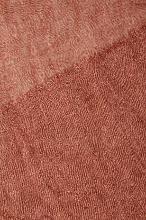 Linen Scarf  RED DESERT  hi-res