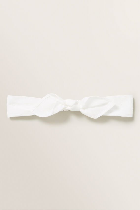 Skinny Bow Headband  WHITE  hi-res