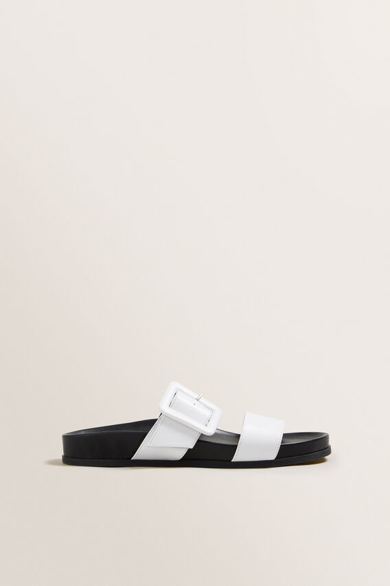 Lilly Footbed Sandal  WHITE  hi-res