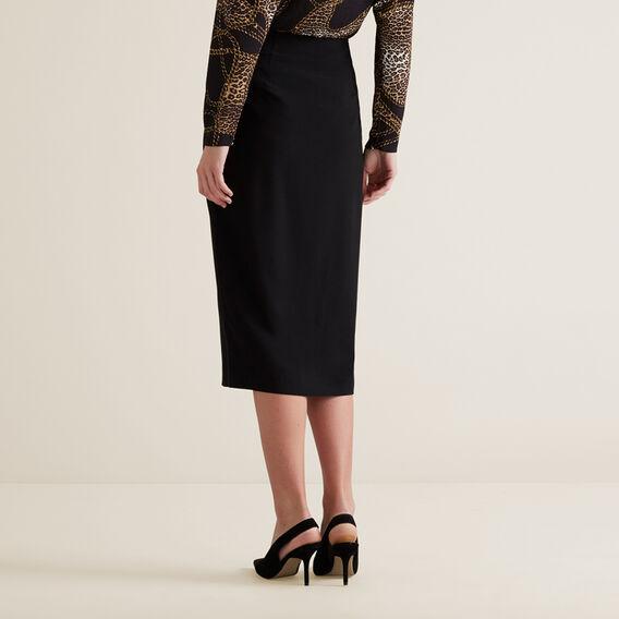 Front Split Skirt  BLACK  hi-res