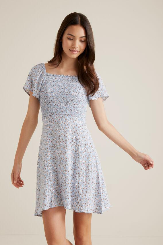 Floral Dress  BABY BLUE  hi-res