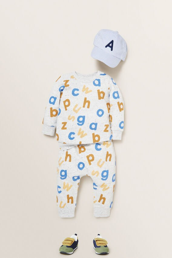 Alphabet Trackpant  CLOUDY MARLE  hi-res