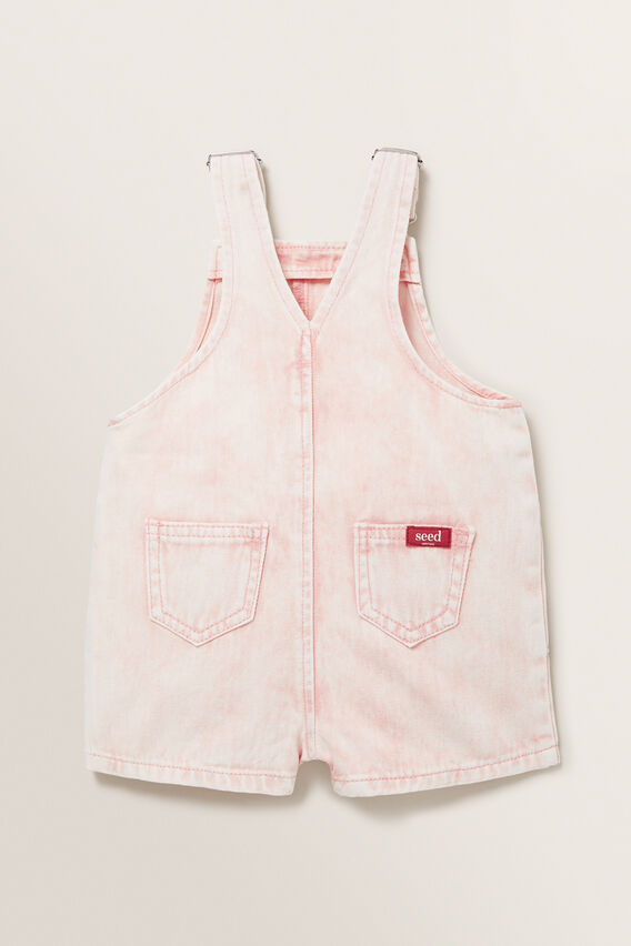Acid Wash Denim Dungaree  ROSE ACID WASH  hi-res