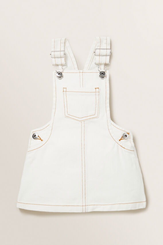 Denim Pinafore  CREAM  hi-res