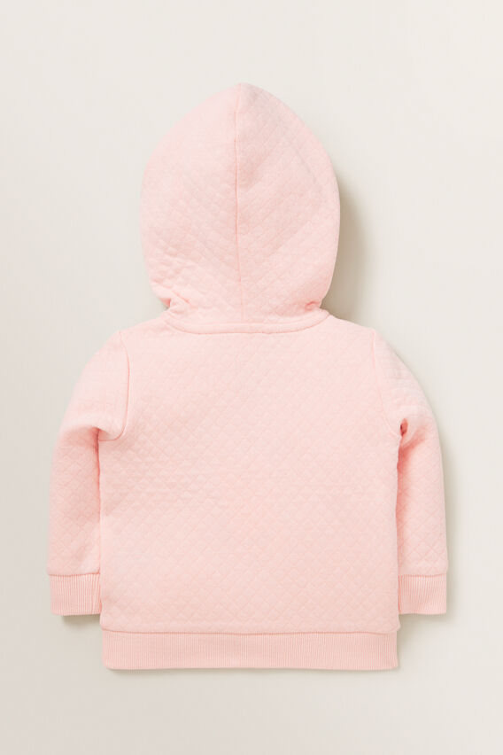 Quilted Zip Hoodie  DUSTY ROSE  hi-res