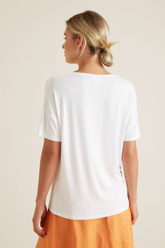 V Neck Tee  WHISPER WHITE  hi-res