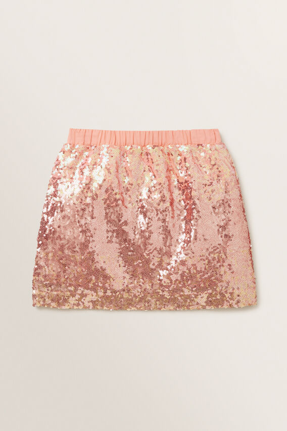Ombre Sequin Skirt  MULTI  hi-res
