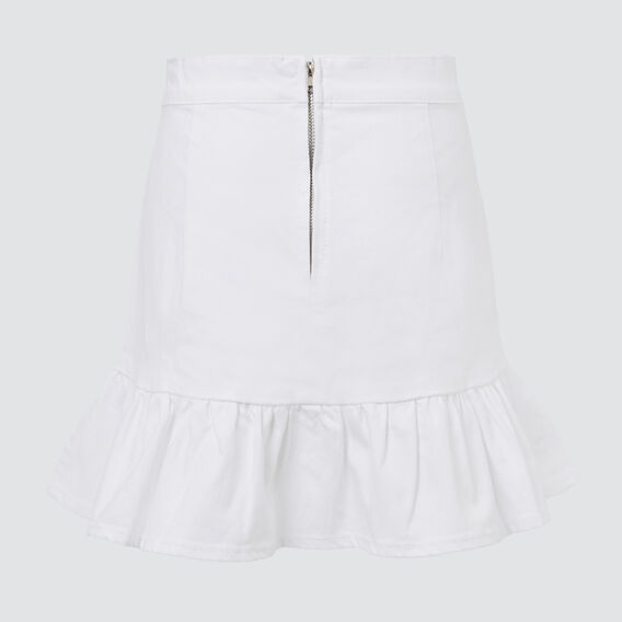 Twill Denim Skirt  WHITE  hi-res