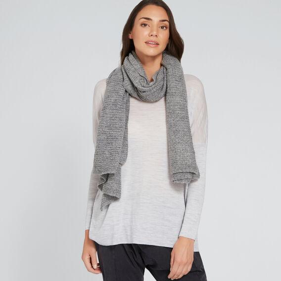Wrap Knit Scarf  GREY  hi-res
