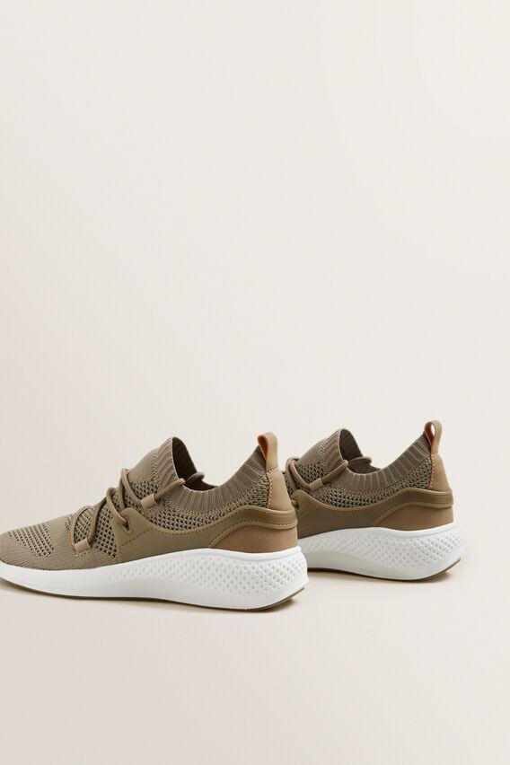 Jessie Knit Sneaker  PALE KHAKI  hi-res