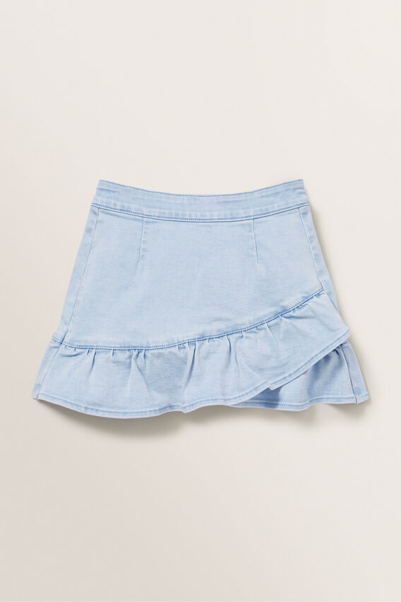 Denim Asymmetric Skirt  ICE BLUE WASH  hi-res