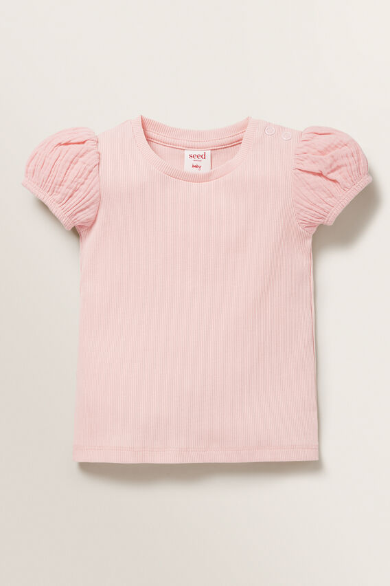 Puff Sleeve Tee  DUSTY ROSE  hi-res