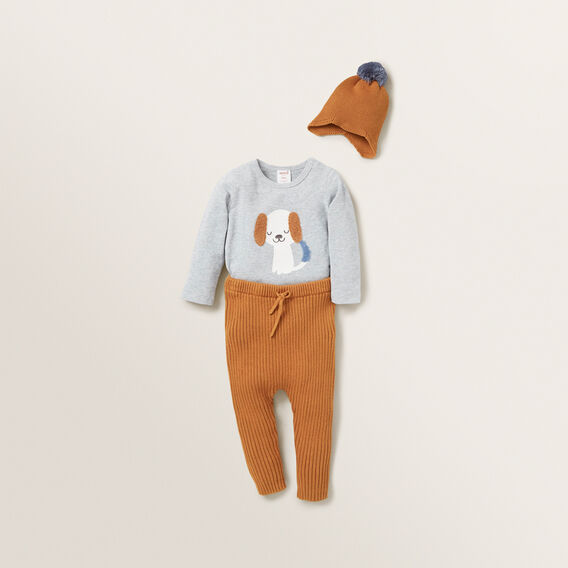 Chenille Dog Bodysuit  BIRCH MARLE  hi-res