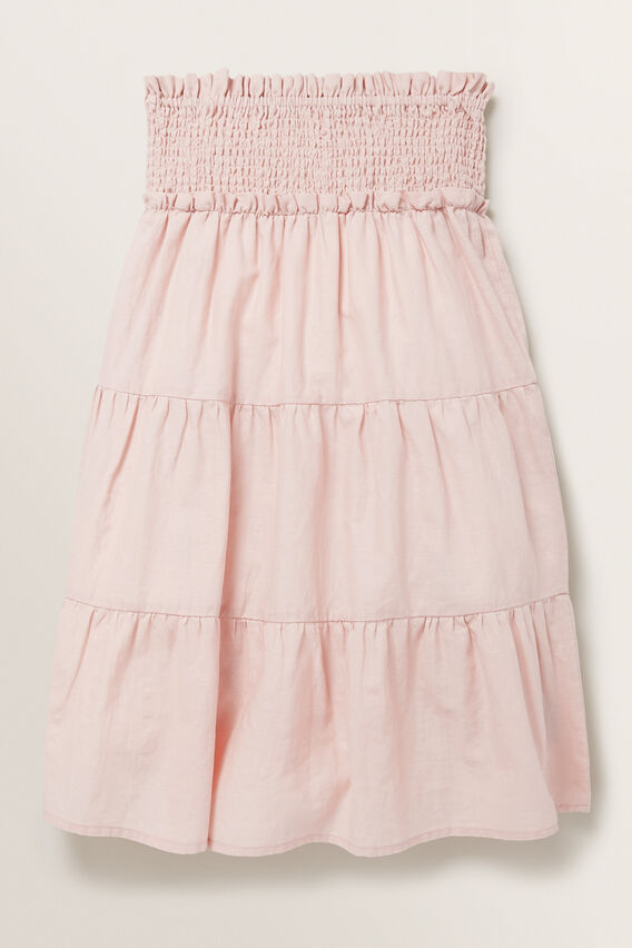 Tiered Midi Skirt  DUSTY ROSE  hi-res