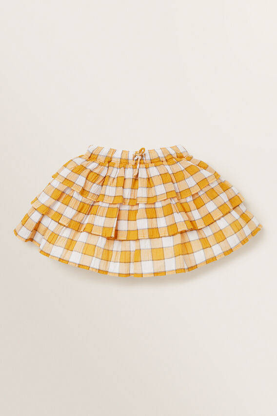 Gingham Rara Skirt  OCHRE  hi-res