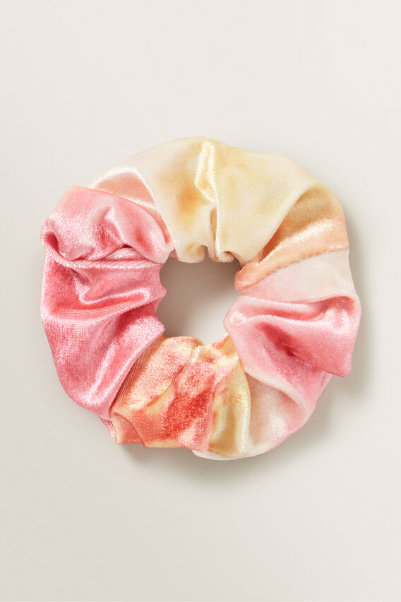 Rainbow Velvet Scrunchie  MULTI  hi-res