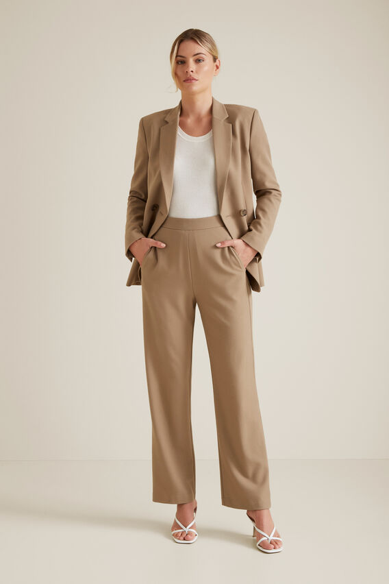 Flat Front Trouser  WARM CINNAMON  hi-res