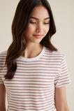 Stripe Tee  CLAY PINK  hi-res