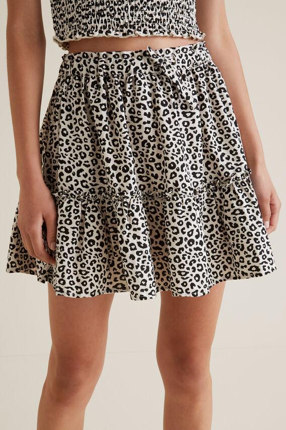Ocelot Tiered Skirt  OAT LINEN  hi-res
