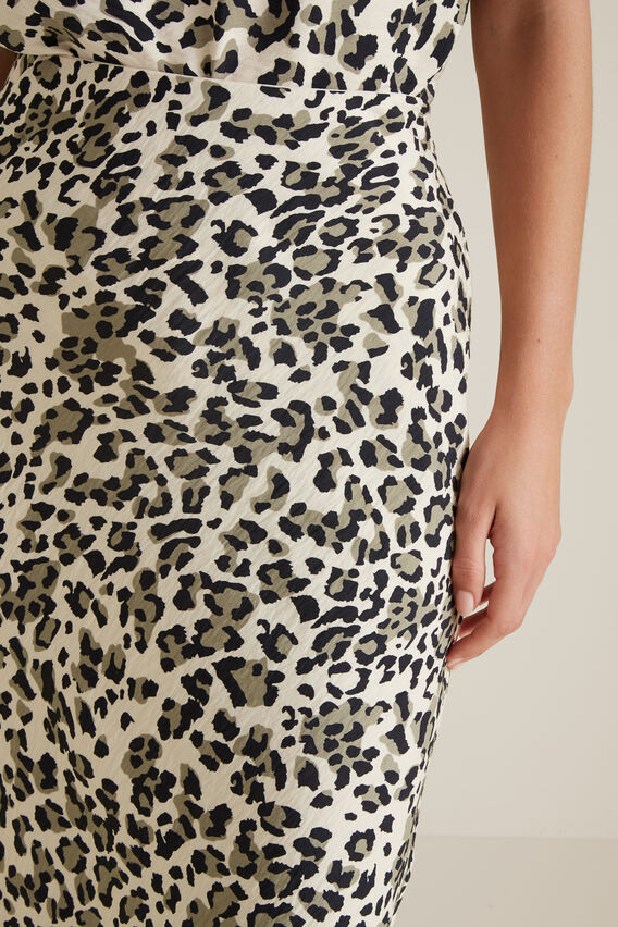 Animal Skirt  KHAKI ANIMAL  hi-res
