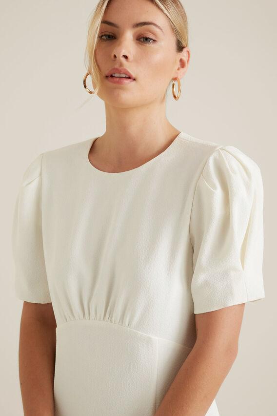 Puff Sleeve Dress  CLOUD CREAM  hi-res