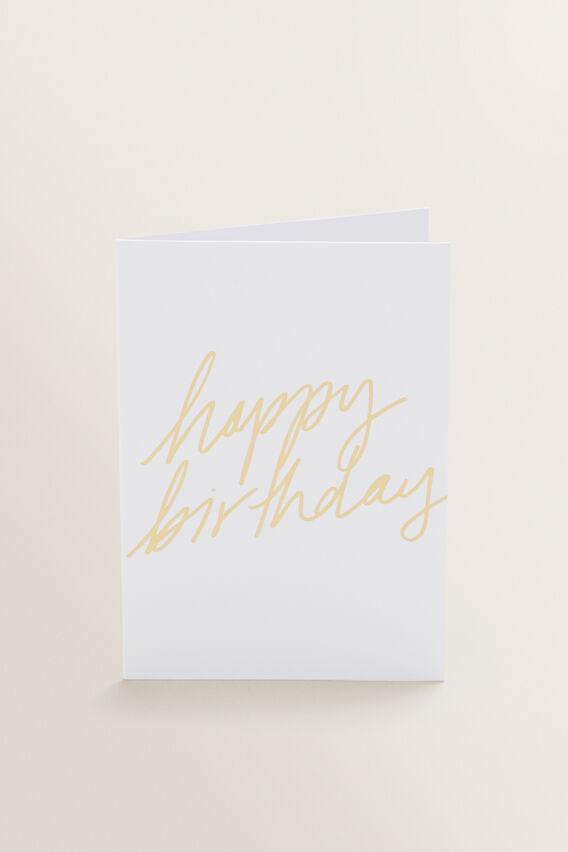 Small Greeting Card  HAPPY BIRTHDAY  hi-res