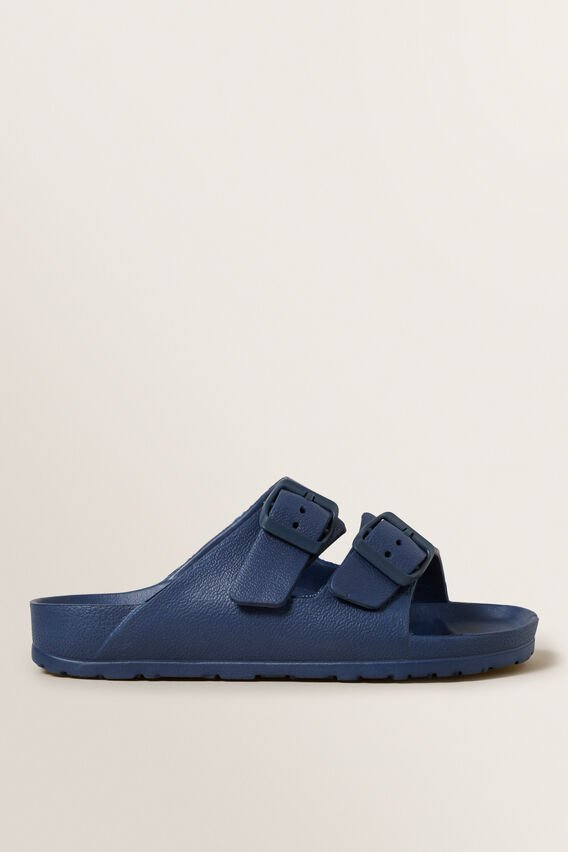 Double Buckle Slides  BLUE  hi-res