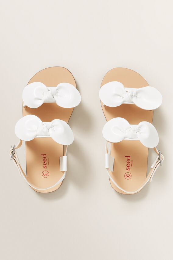 White Bow Sandal  WHITE  hi-res